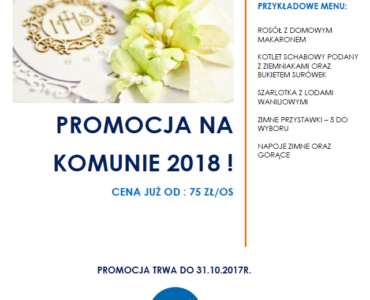 Promocja na komunie 2018 !