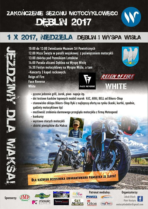Zakończenie sezonu motocyklowego DĘBLIN / Wyspa Wisła 1 październik 2017