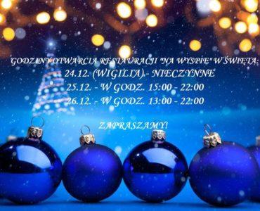 Godziny otwarcia restauracji w Święta Bożego Narodzenia