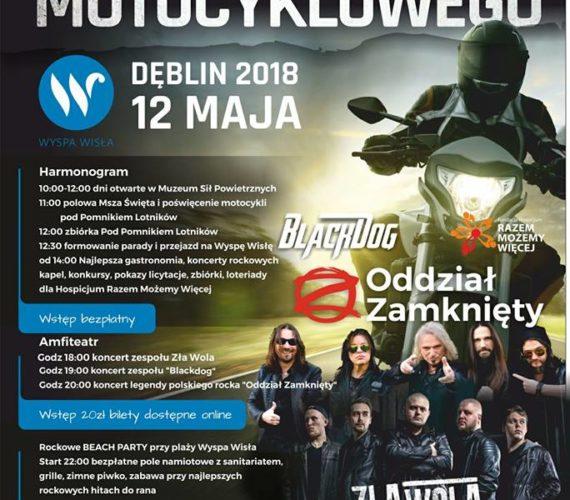 Ogólnopolskie rozpoczęcie sezonu motocyklowego DĘBLIN / WYSPA WISŁA 12 maj 2018