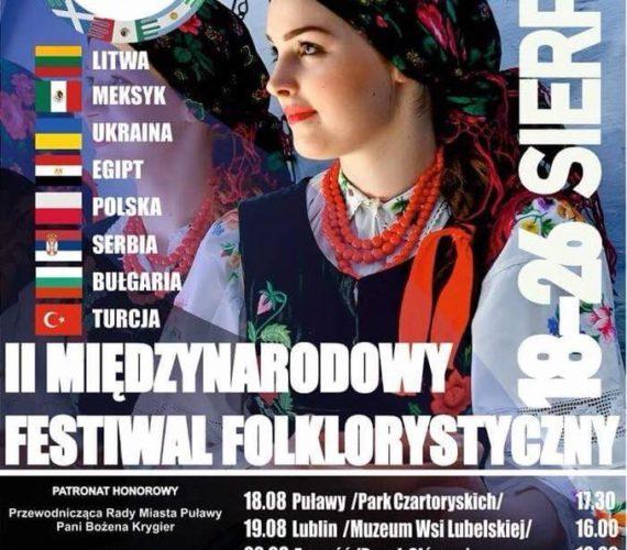 II Międzynarodowego Festiwalu Folklorystycznego 25 sierpnia 2018r.